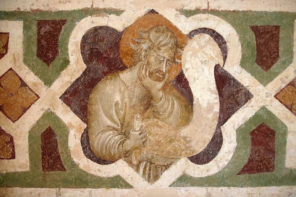 Giovanni di Paolo, Crocifissione, affresco, San Leonardo al Lago, Siena (detail)