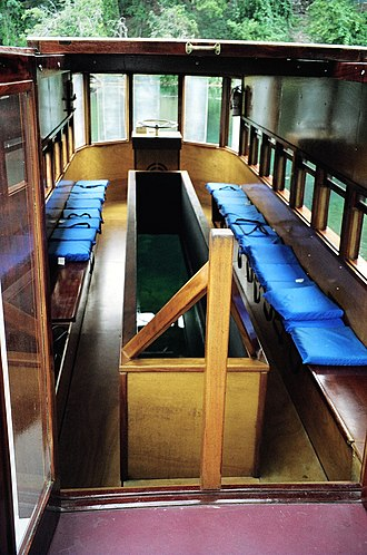 Glass-bottom boat - The interior of a glass bottom boat