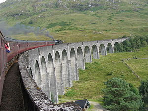 Glenfinnan Viaduct - View from a train on the viaduct
