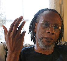 Nathaniel Mackey, photo by Gloria Graham during the video taping of Add-Verse, 2005