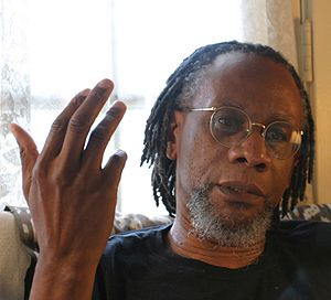 Nathaniel Mackey - Nathaniel Mackey, photo by Gloria Graham during the video taping of Add-Verse, 2005