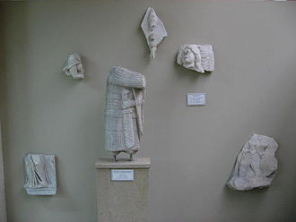 Walls of Constantinople - Surviving fragments of the statues decorating the outer gate of the Golden Gate complex, from the Istanbul Archaeological Museum.