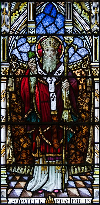 Saint Patrick - Patrick showing cross pattée on his robes