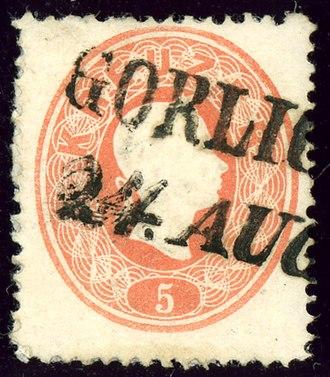 Gorlice - Austrian KK stamp issue 1861, cancelled GORLICE
