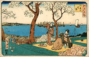 Bento - Hanami bento in the Edo period