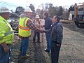 Gov. Malloy views Hurricane Sandy damage in Guilford (8142959486).jpg