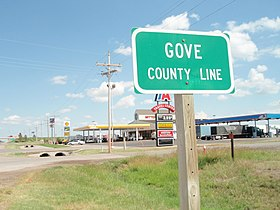 Gove County sign in Oakley, Kansas 8-20-2011.JPG