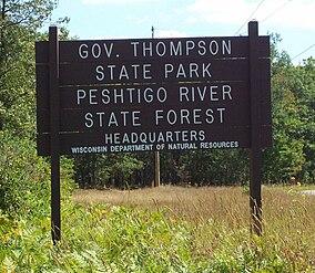 GovernorThompsonStateParkSignAugust2008.jpg
