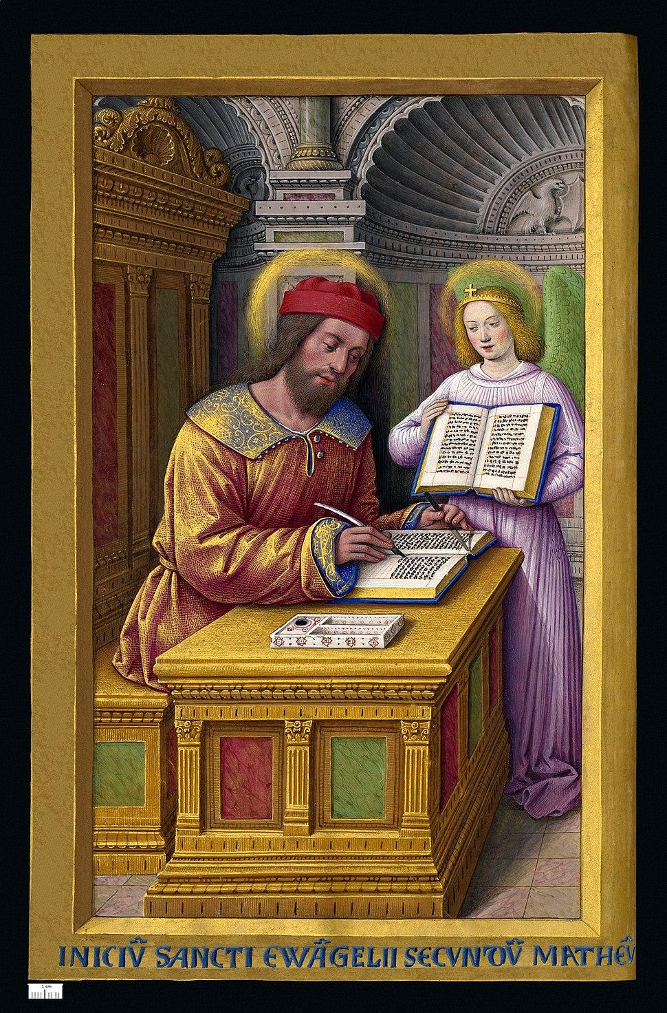 Grandes Heures Anne de Bretagne Saint Matthieu
