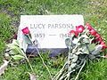 Grave of Lucy Parsons 1may2015 by IWPCHI 1.jpg