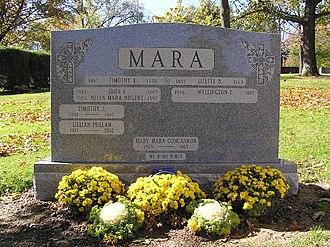 Wellington Mara - The grave of Wellington Mara in Gate of Heaven Cemetery