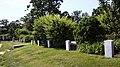 Graves along the south border of the formal flower garden - Arlington House - Arlington National Cemetery - 2012-05-19.jpg