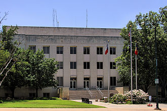 Sherman–Denison metropolitan area - The Grayson County Courthouse in Sherman.
