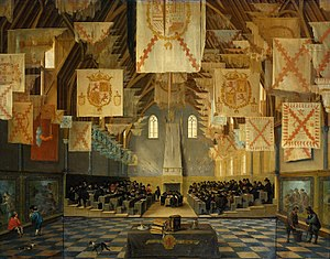 Binnenhof - A meeting of the States General of the Dutch Republic in the Ridderzaal in 1651