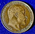 Great Britain dateless double Obverse Mule Halfpenny Edward VII 1902 to 1910, Error Coin. Obverse.jpg