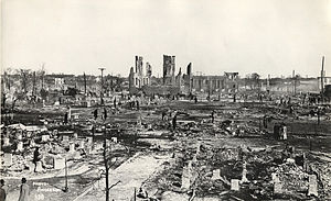 Fifth Ward, Houston - The aftermath of the Great Fifth Ward Fire in 1912.