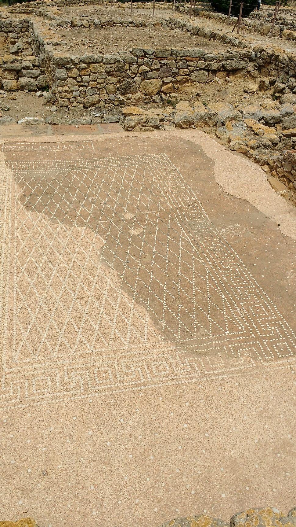 Greek mosiac at Empúries
