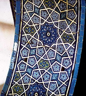 Girih tiles - Image: Green mosque archway