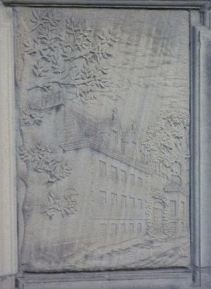 Greenhill, Edinburgh - Greenhill House depicted on a tenement builder's tablet