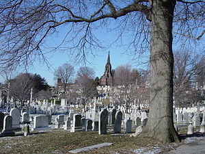 Green Mount Cemetery - Southwest corner looking northeast