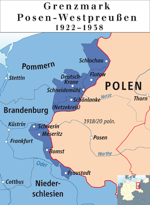 Posen-West Prussia - Districts of Posen-West Prussia, 1922–1938.