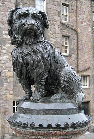 Greyfriars Bobby - This statue of Bobby sits at the corner of Edinburgh's Candlemaker Row and George IV Bridge, and is a Category A listed building
