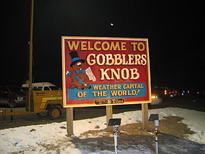 English: Welcome to Goolers Knob - Groundhog D...