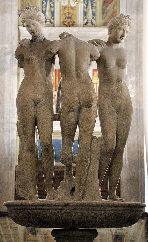 Gruppo delle tre grazie, Libreria Piccolomini, Siena Duomo