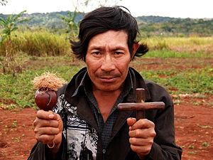 Maraca - Image: Guarani shaman