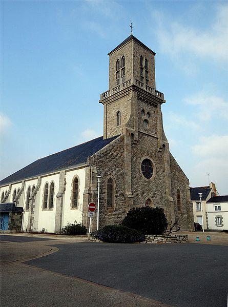 Église Sainte-Anne, Guilvinec, Finistère, France.