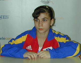 Silvia Stroescu Romanian artistic gymnast
