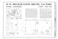 H. W. Hocker Manufacturing Company Factory, 224 Front Street, Lewes, Sussex County, DE HAER DEL,3-LEW,8- (sheet 1 of 1).png