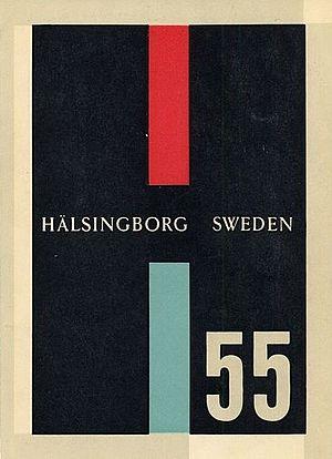 Helsingborg Exhibition 1955 - exhibition poster