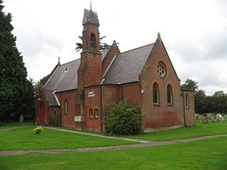 Holmer Green village in United Kingdom