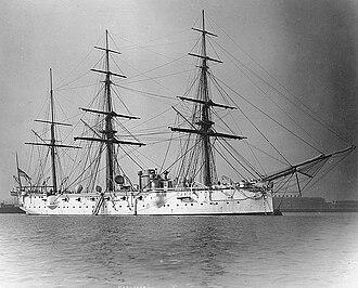 HMS Calliope (1884) - Starboard view