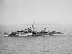 HMS Charybdis (88) - Image: HMS Charybdis 1943 IWM FL 5201