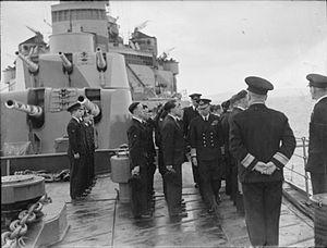 HMS Glasgow (C21) - Image: HMS Glasgow visit