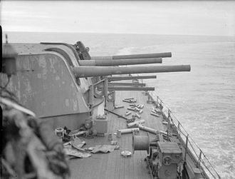 Town-class cruiser (1936) - Mk XXII turret with rounded contours mounted on Southampton and Gloucester sub-classes