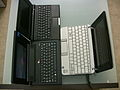 HP Mini-Note 2133, Asus Eee PC 701 and Everex Cloudbook 2.jpg