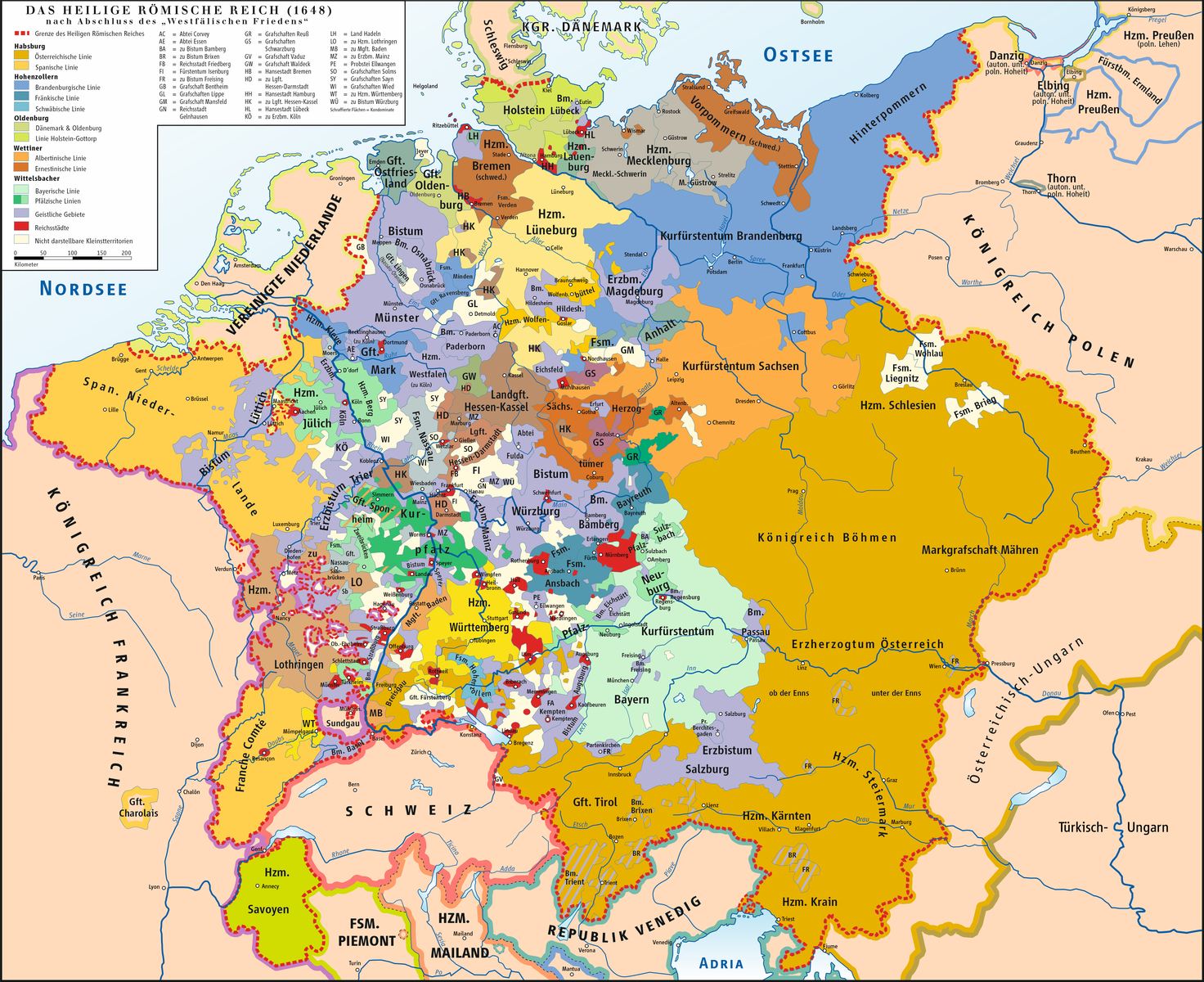 Holy Roman Empire after the Peace of Westphalia.
