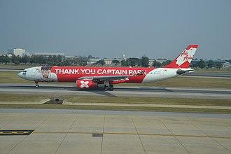 """Thai AirAsia X - Thai AirAsia X in """"Thank You Captain Park Livery""""."""