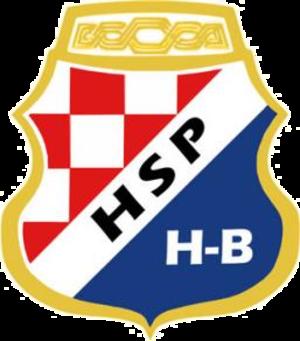 Coat of arms of the Croatian Republic of Herzeg-Bosnia - Image: HSP H B
