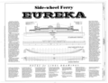 Half Breadth Plan, Sheer Plan - Ferry EUREKA, Hyde Street Pier, San Francisco, San Francisco County, CA HAER CAL,38-SANFRA,194- (sheet 1 of 5).png