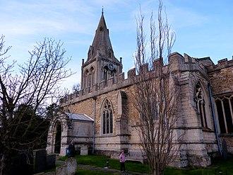 St Michael's parish church, Hallaton - Image: Hallaton St Michael, Jan 2014
