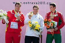Hammer throw podium Ostrava 2011.jpg