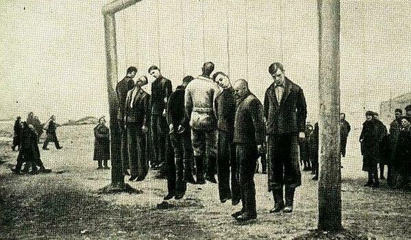 Ukrainare avrättade av tyskarna
