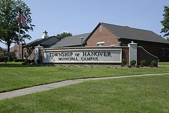 Hanover Township, New Jersey - Image: Hanover Township Hall NJ
