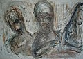 Hans-Joachim Hennig, Figuren mit angewinkelten Armen, Wasserfarben und Bleistift, 2001.jpg