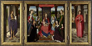 Donne Triptych - The Donne Triptych by Hans Memling, c. 1470s, National Gallery, London.