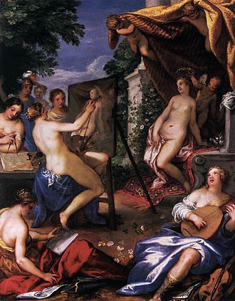 The arts - Hans Rottenhammer, Allegory of the Arts (second half of the 16th century). Gemäldegalerie, Berlin.